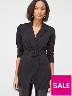 v-by-very-crepe-buckle-blazer-black
