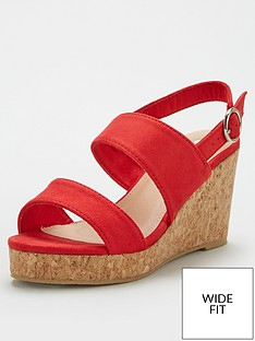 v-by-very-giselle-wide-fit-double-strap-wedge-sandal-red