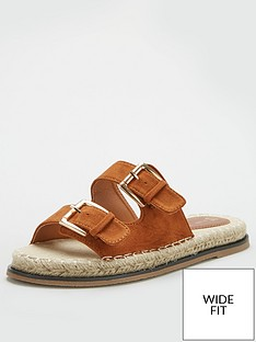 v-by-very-hone-wide-fit-buckle-espadrille-slider-tan