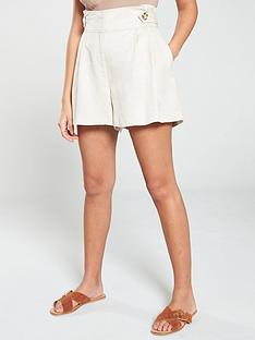 v-by-very-linen-mix-short