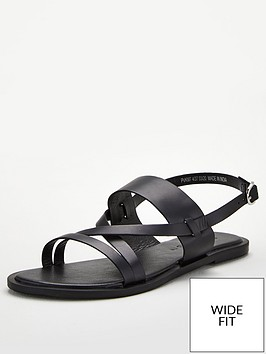 v-by-very-hero-wide-fit-leather-strappy-sandal-black
