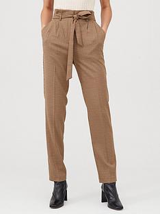 v-by-very-tie-waist-checked-trouser-brown-check