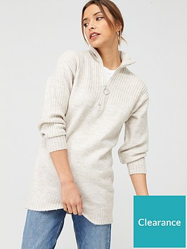 v-by-very-zip-up-tunic-ivory