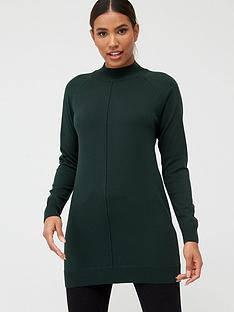 v-by-very-seam-detail-tunic-forest-green