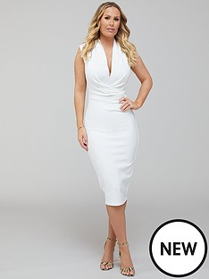 kate-ferdinand-premium-stretch-bandage-midi-dress-ivory