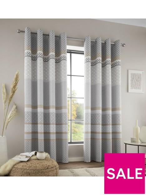catherine-lansfield-malawa-geo-eyelet-curtains