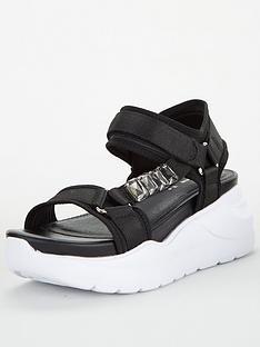 v-by-very-hiya-jewel-trim-sporty-sandal-black