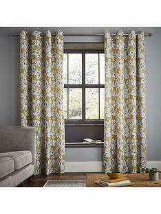 catherine-lansfield-inga-leaf-eyelet-curtains
