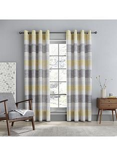 catherine-lansfield-tallin-stripe-eyelet-curtains