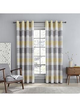 catherine-lansfield-tallin-stripe-eyelet-curtains