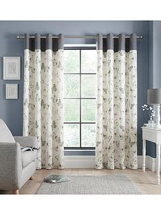 catherine-lansfield-sibella-butterfly-eyelet-curtains