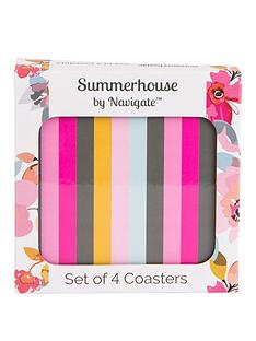 summerhouse-by-navigate-gardenia-striped-coasters-ndash-set-of-4