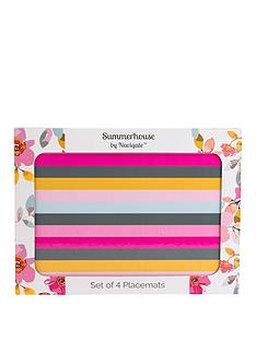 summerhouse-by-navigate-gardenia-striped-placemats-ndash-set-of-4