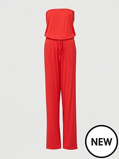 v-by-very-strapless-tie-waist-jumpsuit-red