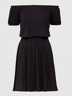v-by-very-bardot-elastic-waist-jersey-mini-dress-black