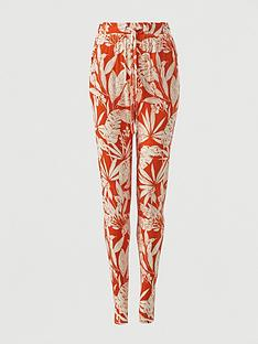 v-by-very-jersey-tapered-leg-trouser-orange-print