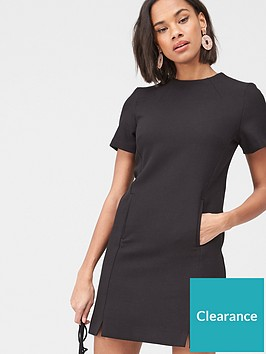 v-by-very-high-neck-simple-tunic-dress--black