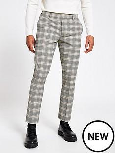 river-island-ecru-check-super-skinny-smart-trousers