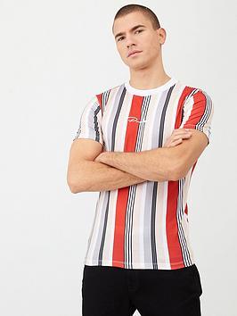 river-island-prolific-stripe-muscle-fit-t-shirt-rednbsp