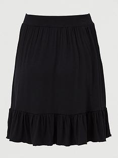 v-by-very-frill-hem-jersey-mini-skirt-black