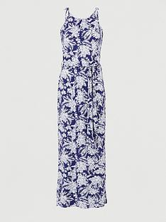 v-by-very-scoop-neck-tie-waist-maxi-dress-navy-print