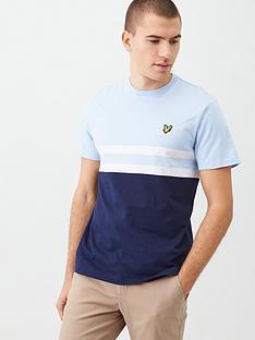 lyle-scott-yoke-stripe-t-shirt-light-bluenavy