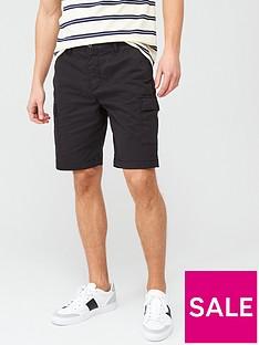 lyle-scott-cargo-shorts-black