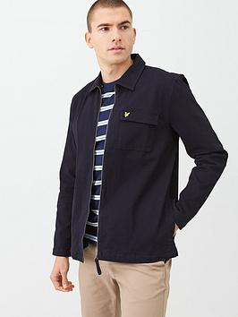 lyle-scott-twill-overshirt-navy