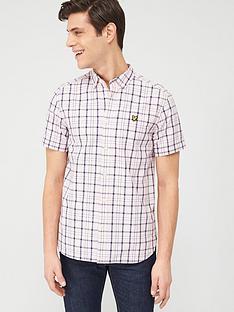 lyle-scott-short-sleeve-check-shirt-strawberry