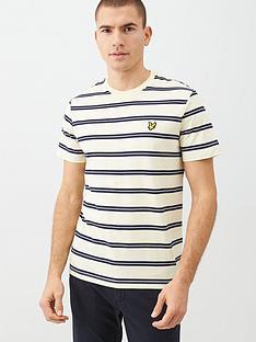 lyle-scott-wide-double-stripe-t-shirt-buttercream