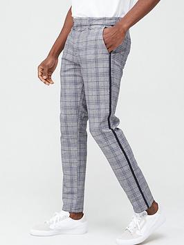 river-island-grey-blue-check-skinny-trouser