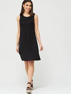 v-by-very-sleeveless-dip-hem-jersey-dress-black