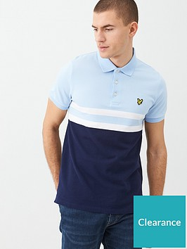 lyle-scott-yoke-stripe-polo-shirt-light-bluenavy