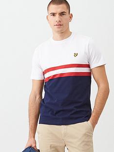 lyle-scott-yoke-stripe-t-shirt-whitenavy
