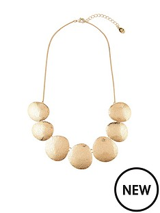 accessorize-hammered-disc-round-necklace