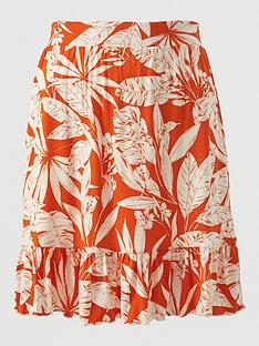 v-by-very-frill-hem-jersey-mini-skirt-orange-print