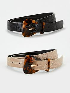 v-by-very-two-pack-tortoiseshell-resin-buckle-belt-blacktaupe