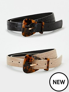 v-by-very-two-pack-tortoiseshell-resin-buckle-belt-blacktaupe