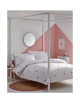 appletree-tufted-star-duvet-cover-set-in-pink