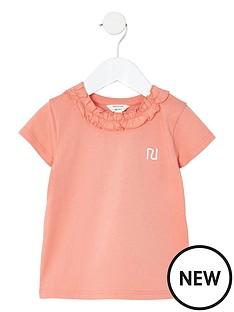 river-island-mini-mini-girls-frill-neck-t-shirt-coral