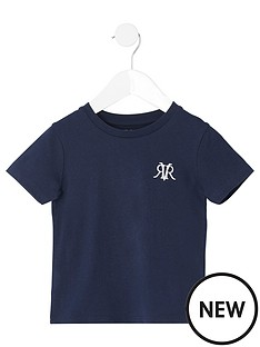 river-island-mini-mini-boys-rvr-embroidered-tshirt-navy
