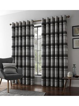 catherine-lansfield-powel-jacquard-stripe-eyelet-curtains