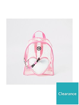 river-island-girlsnbspheart-vinyl-backpack-pink