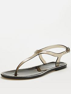 v-by-very-halay-t-bar-diamante-jelly-sandal-black