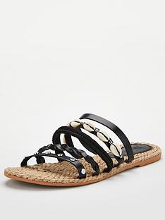 v-by-very-hox-leather-shell-trim-strappy-sandal-black
