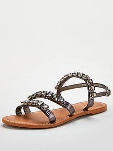 v-by-very-halt-leather-embellished-sandal-pewter