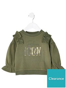 river-island-mini-mini-girls-borderie-frill-sweatshirt-khaki