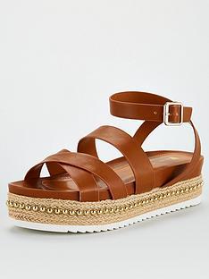 v-by-very-hunt-stud-trim-strappy-flatform-sandal-tan