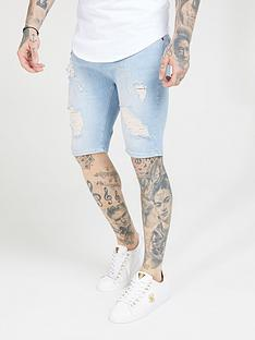 sik-silk-distressed-skinny-shorts-light-wash