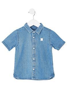 river-island-mini-boys-short-sleeve-denim-shirt--nbspblue